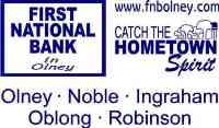 Logo and link to First National Bank.